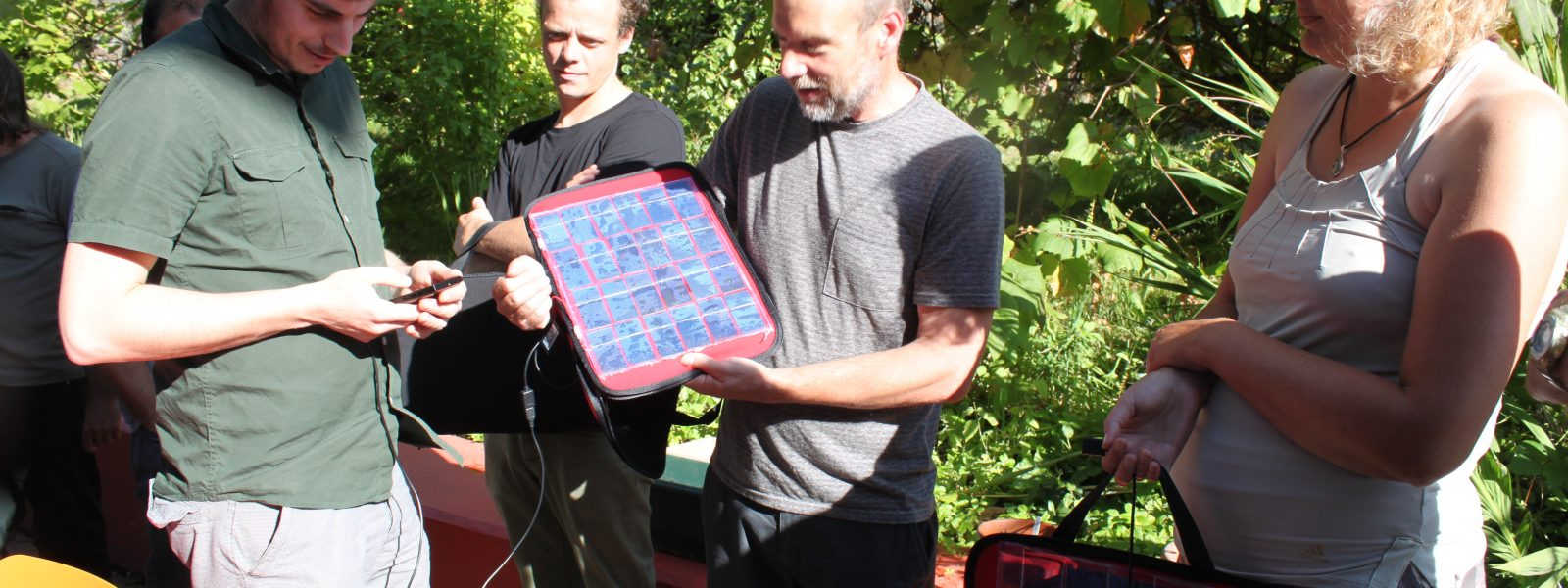 Solar panel making workshop at the Bridge, Ore