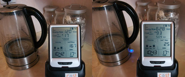 Energy monitors and kettle